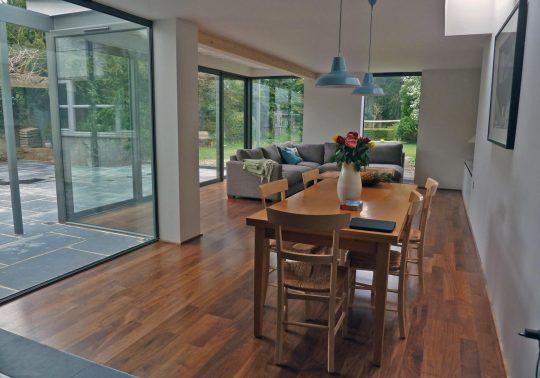Contempoary glazed garden extension - Thame, Oxfordshire